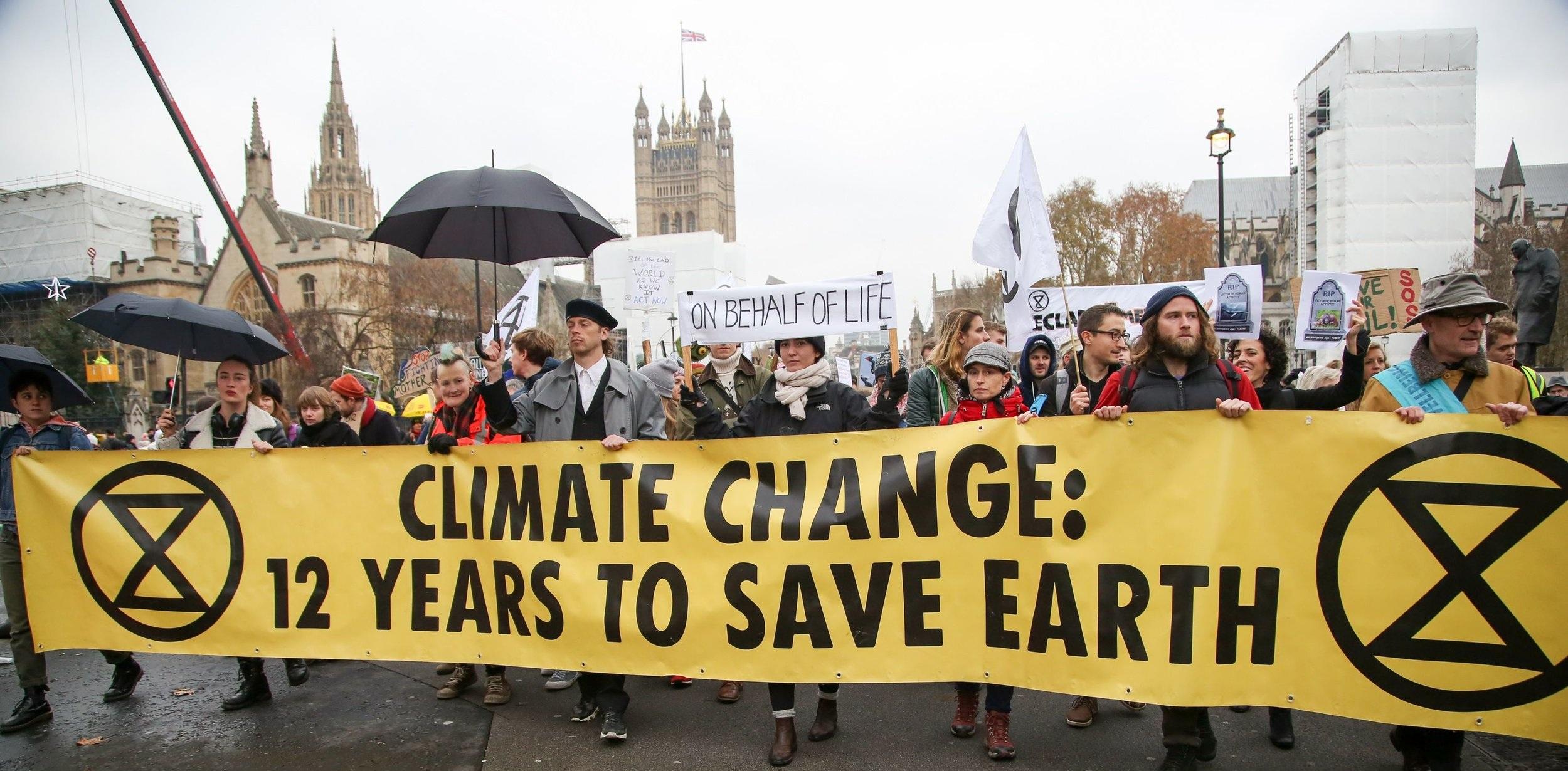 Extinction Rebellion protest in London, UK. Dinendra Haria/REX/Shutterstock.