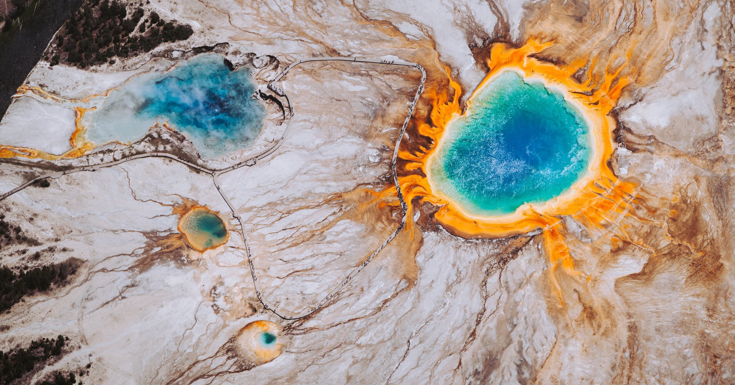 Grand Prismatic Spring, United States   . Photo by Chris Leipelt on Unsplash.
