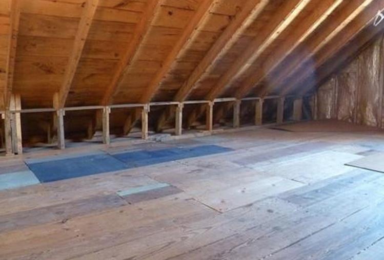 Unfinished attic at 24 Belmont, Weymouth, Massachusetts. Zillow November 2018