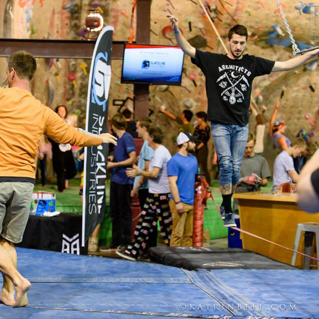 Slacktopia - Come experience The Spot transformed into the ultimate slackline park! Enjoy slacklines of all different types, space nets, hammocks, slackline workshops from the pros, and much more!