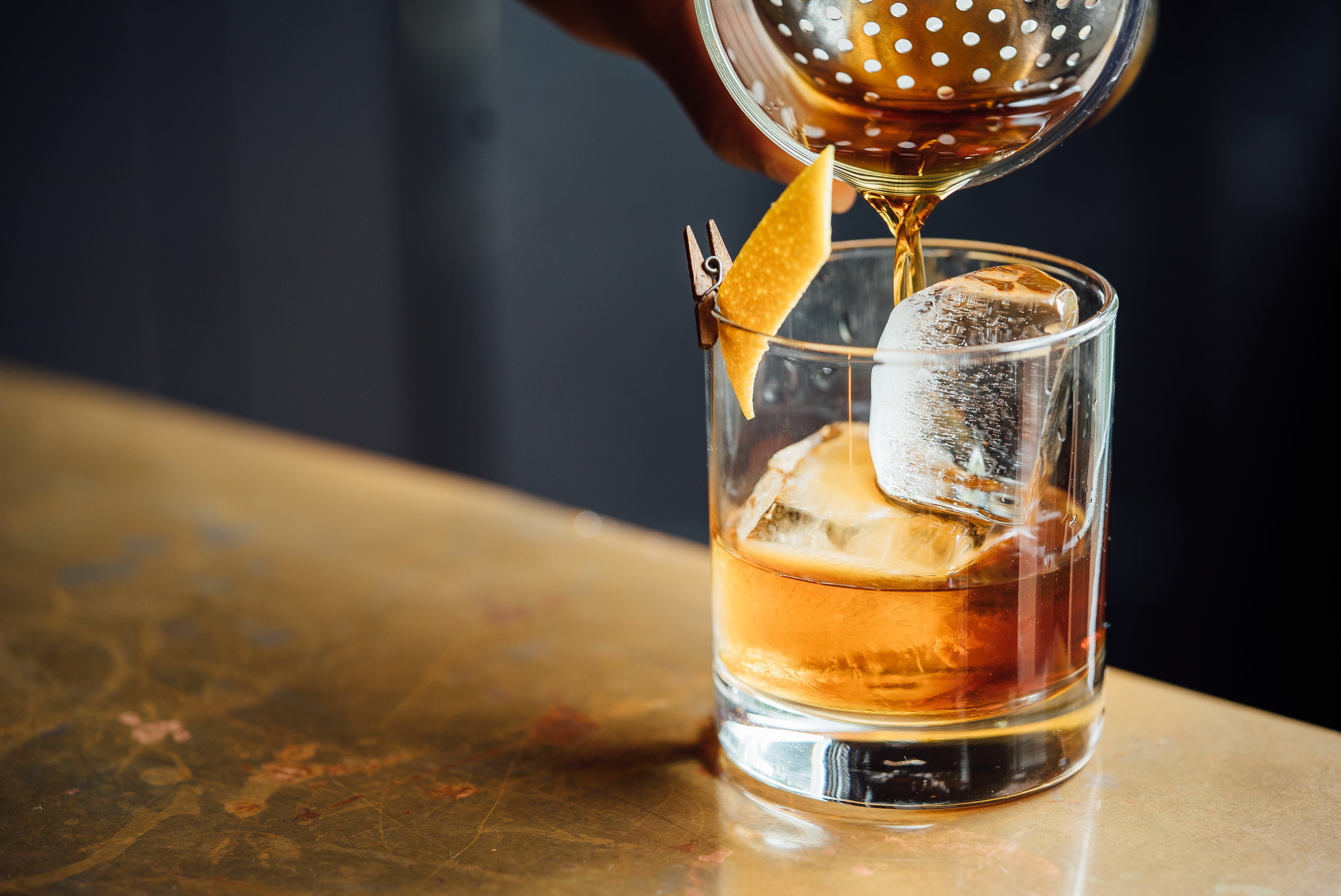 Honey Old Fashioned - Rye Whiskey, Honey, Lemon, Sugar, Bitters | 9