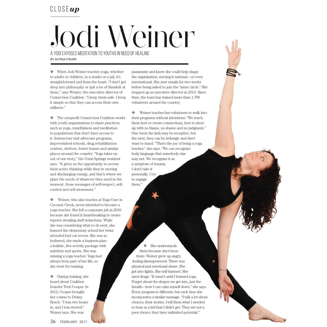 Weston Lifestyle(February 2017) - Jodi Weiner: A Yogi Exposes Meditation To Youths in Need of Healing