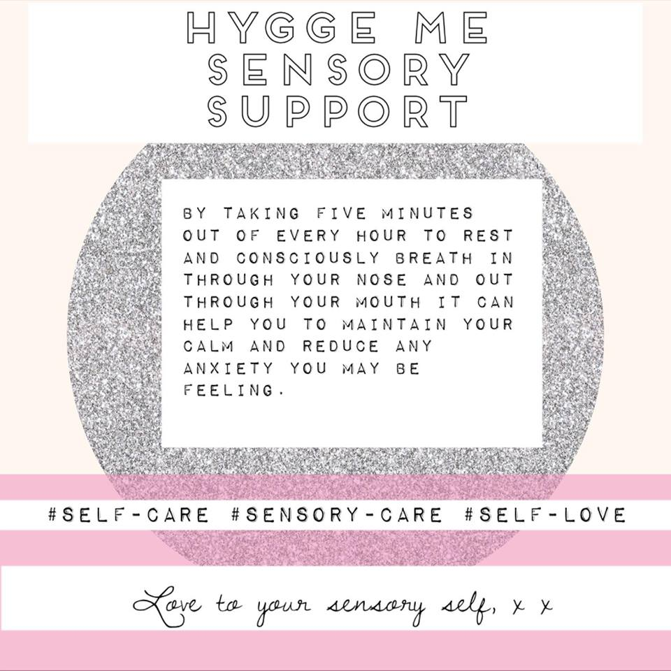 For more sensory supportive tips and ideas follow our Hygge Me advent on Facebook and Instagram.