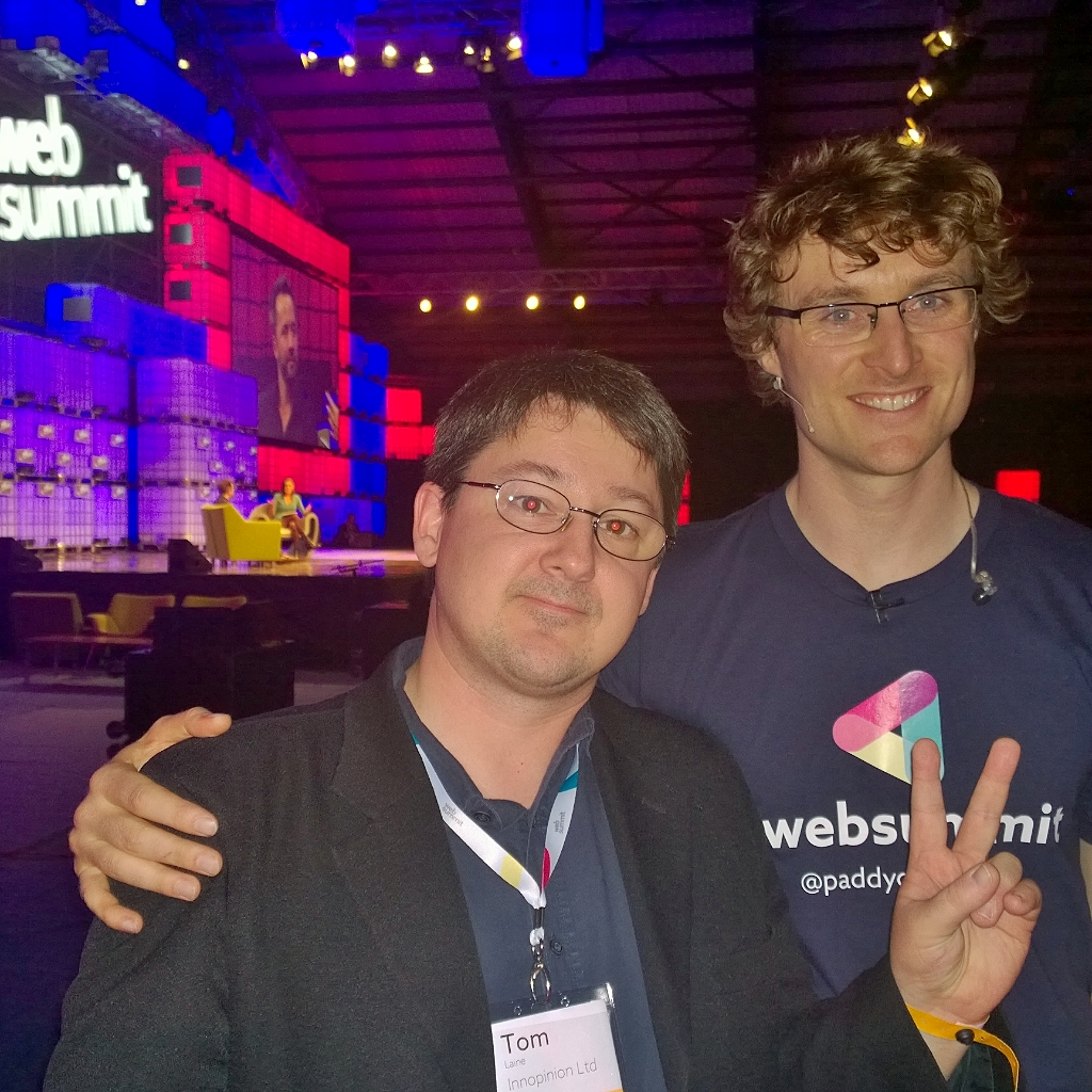 With Web Summit Founder Paddy Cosgrave in Dublin