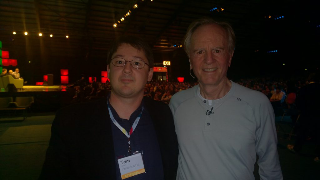 With former Apple CEO and Coca Cola CEO John Sculley in Dublin