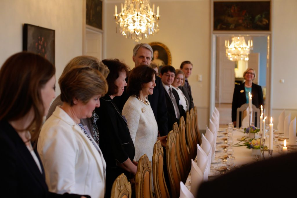 Lunch with HM the Queen of Sweden at the Swedish Embassy in Helsinki