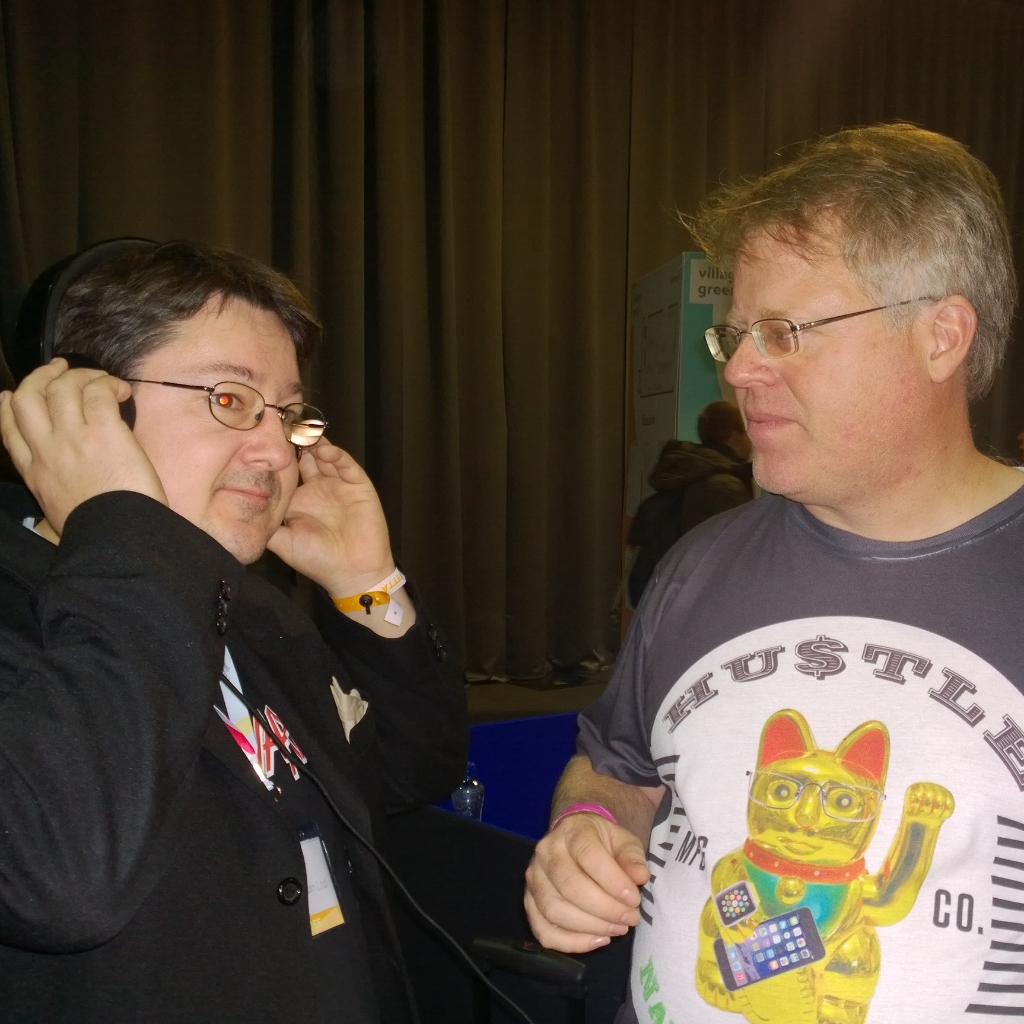 "At the Web Summit in Dublin with Robert ""Scobleizer"" Scobble"