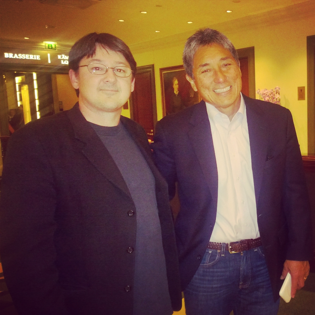 With Guy Kawasaki