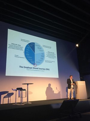 Tom speaking at Brand2Future event in Belgium