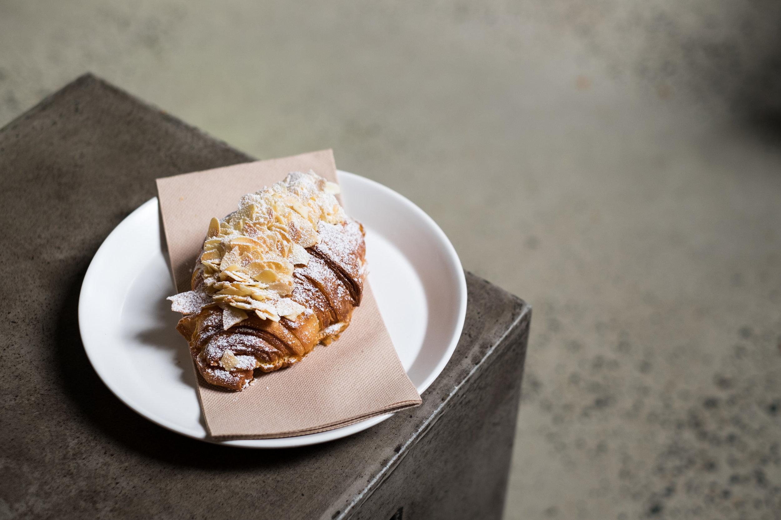 Croissant aux Amandes,  LUNE Croissanterie  (4 Mins walk from CLAW Creative Studio)