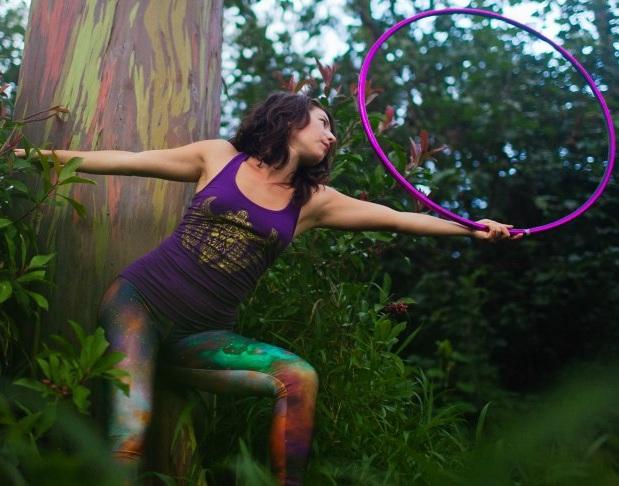 Tara Burke,  Hoop Dance
