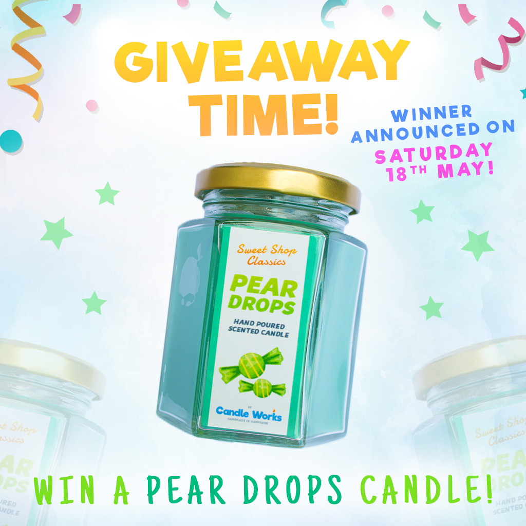 🎉🍐 GIVEAWAY TIME! 🍐🎉 - WIN A Pear Drops Scented Candle!It's that time again! We give one lucky person the chance to win one of our unique handmade candles!VISIT our Facebook to enter! OR Click the 'Enter Here' button below.One lucky winner will be selected from the comments & announced on Saturday 18th May 2019!This giveaway is now closed. Well done to our winner, Bonnie!