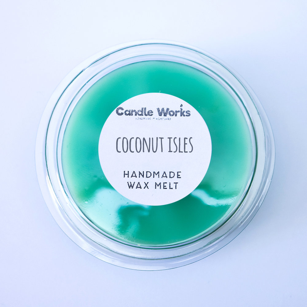 Coconut Isles Scented Wax Melt Segment Pot — Candle Works UK - Handmade  Scented Candles, Wax Melts, Portsmouth Candle