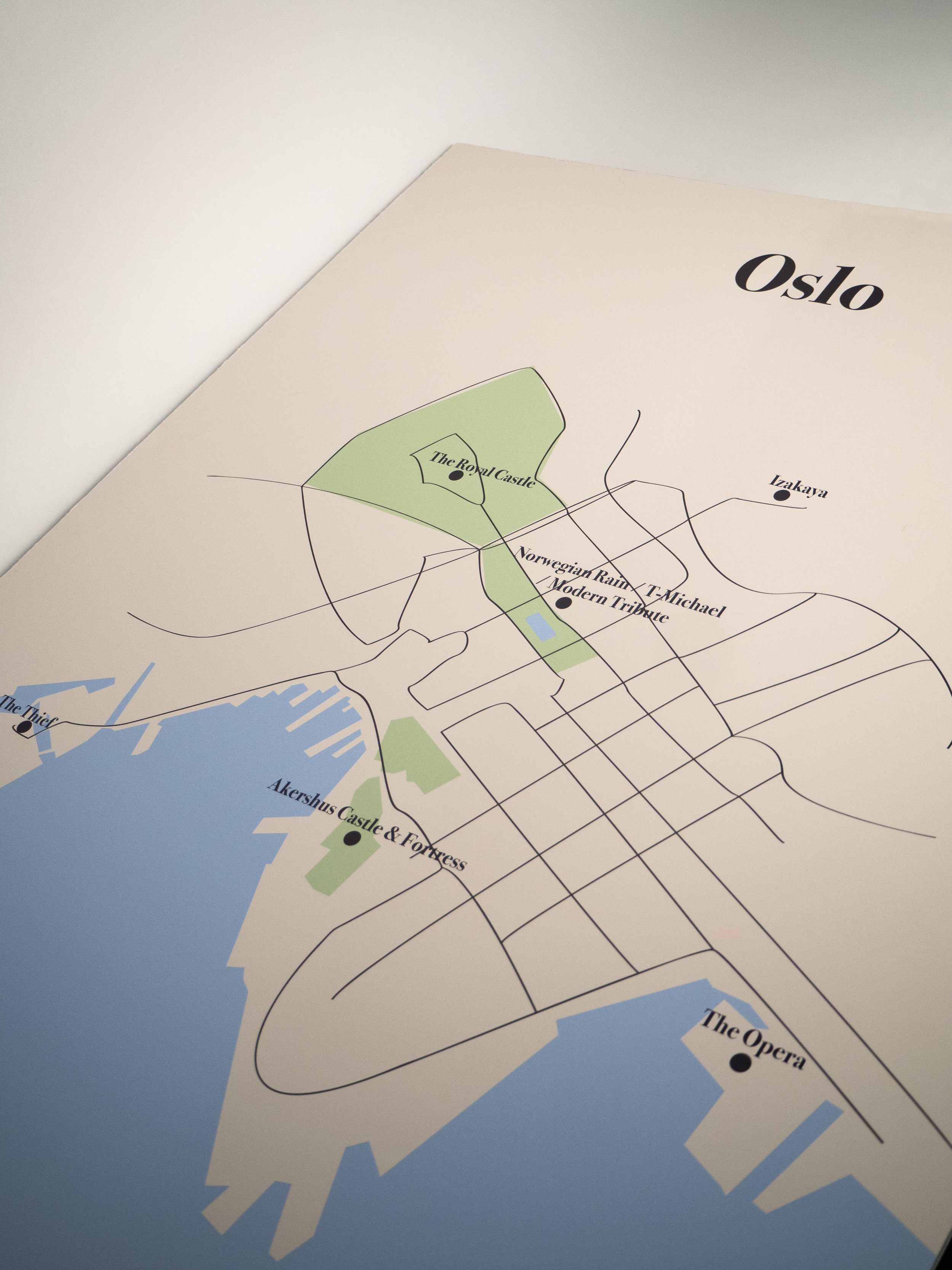 Map of Oslo for popup with The Thief Hotel