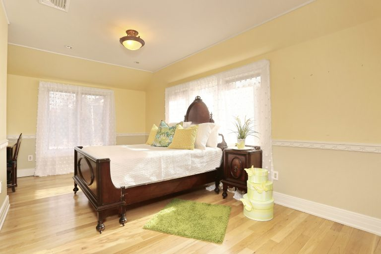 New Jersey home Guest bedroom after home staging By Spaces That Speak Home Staging Warm and inviting