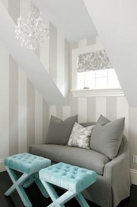 Small couch adds charm. photo house of turquoise/ pinterest