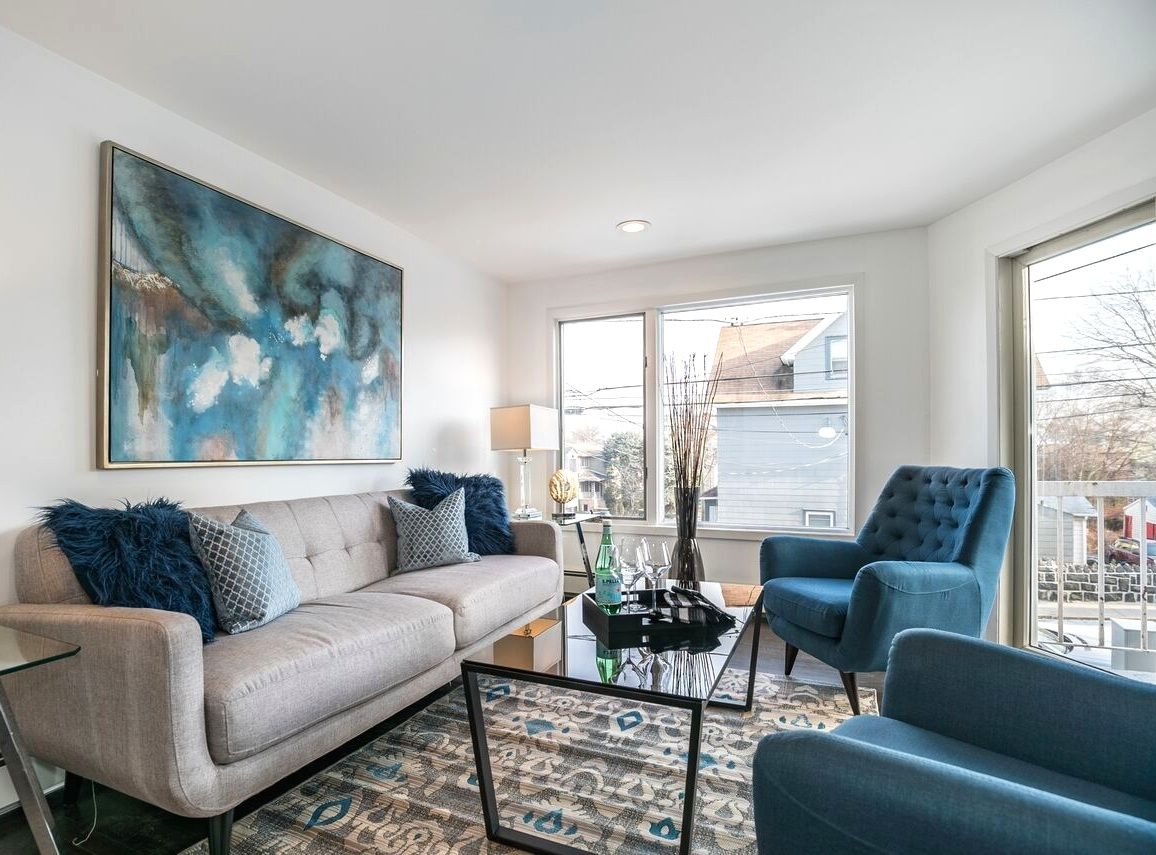 From our recent home staging in Fort Lee, NJ