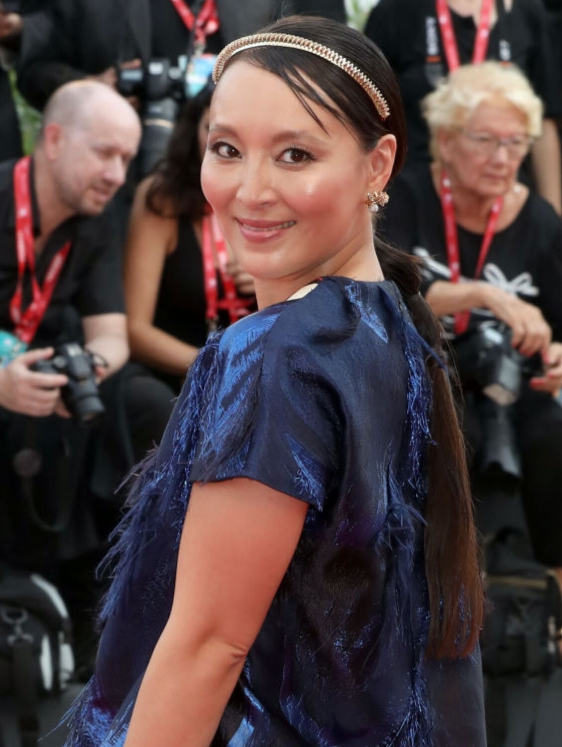 "76th Venice Film Festival - Jun Ichikawa walks the red carpet of the ""Marriage Story"""