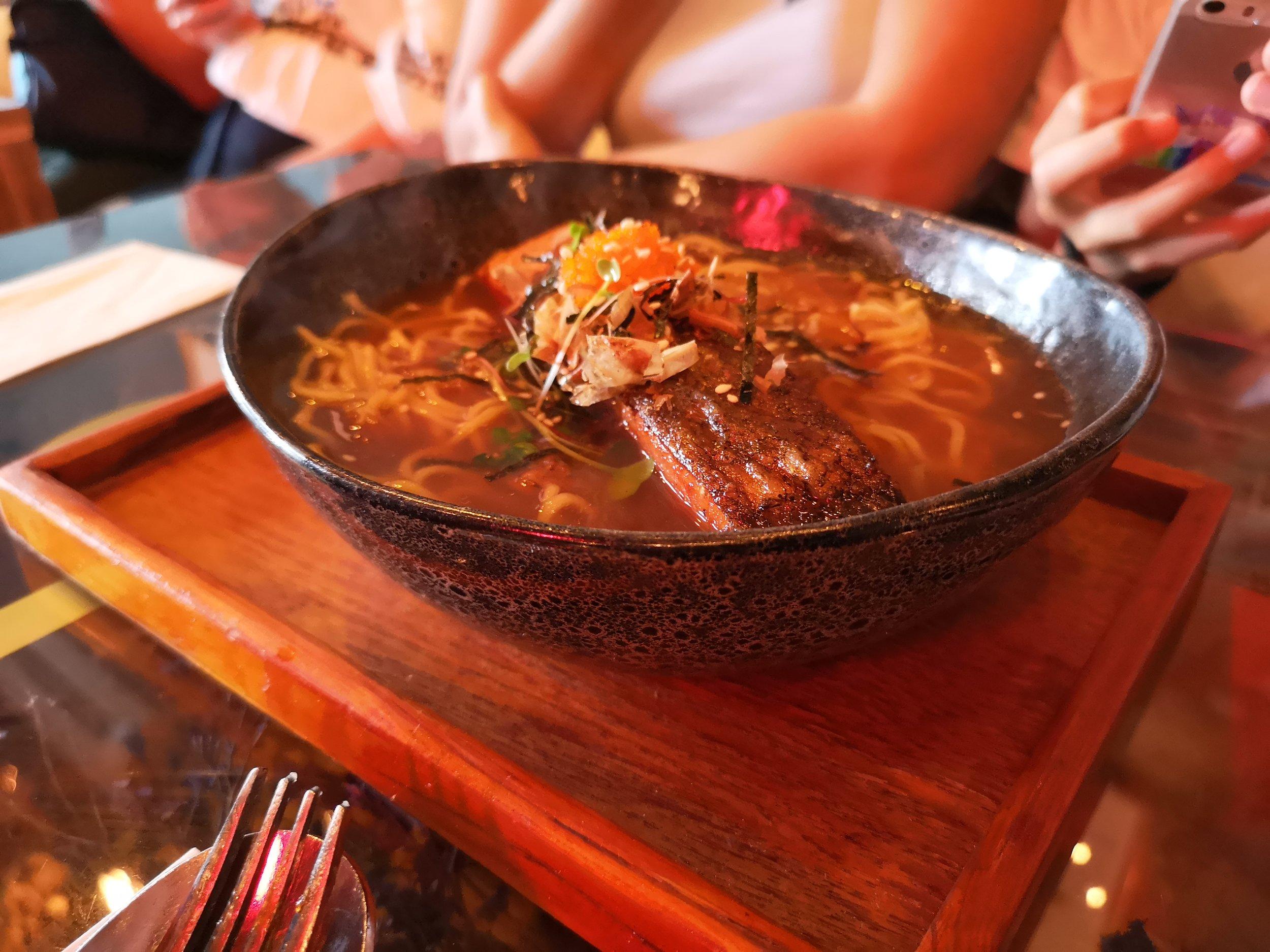 Salmon Soup Ramen Bloom by Mok Mok