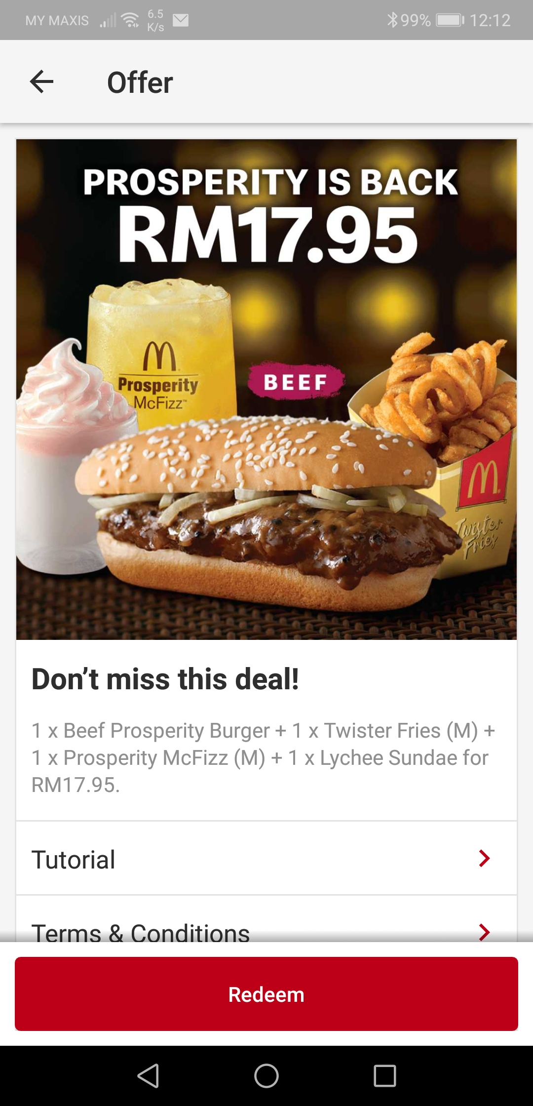Prosperity Burger McDonald's App