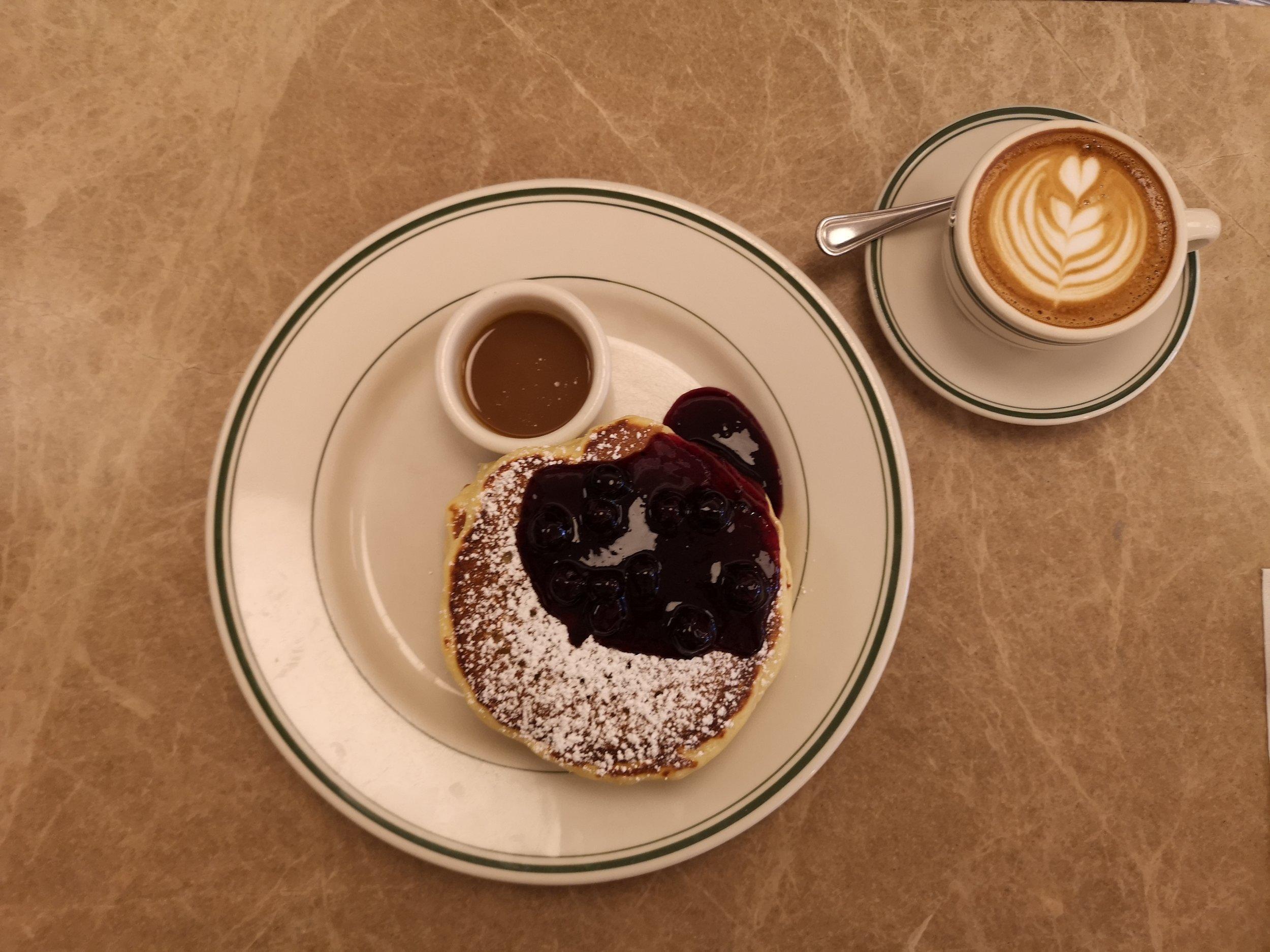 Pancake and Coffee Flatlay