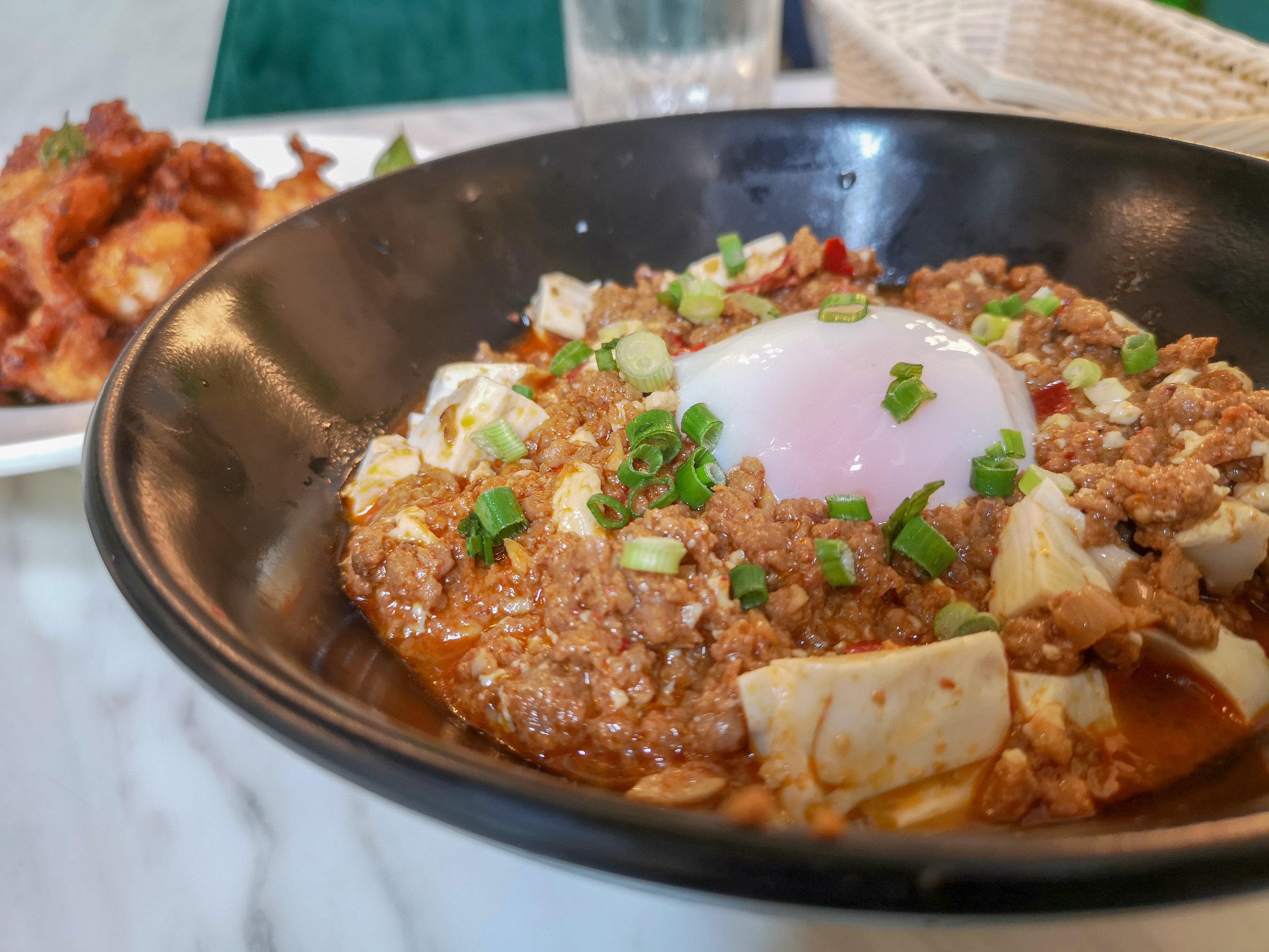 Mapo Tofu Rice Bowl ($18)