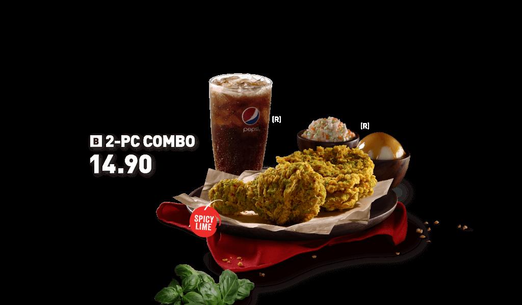 KFC 2 Pc Green Chilli Crunch