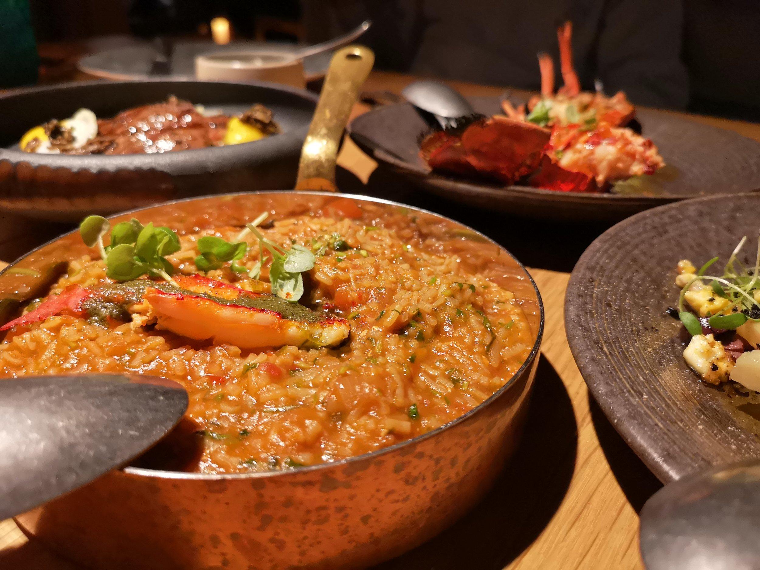 Blue Lobster & Prawn Rice Tasca Dubai