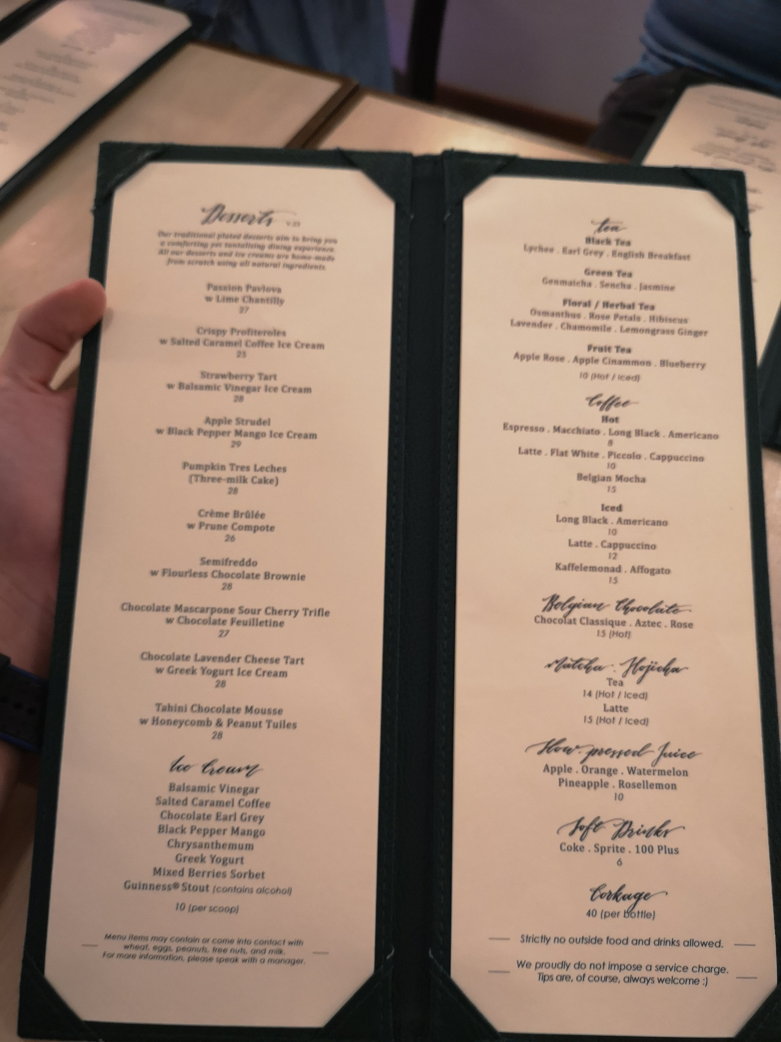 Foo Foo Fine Desserts Menu Prices