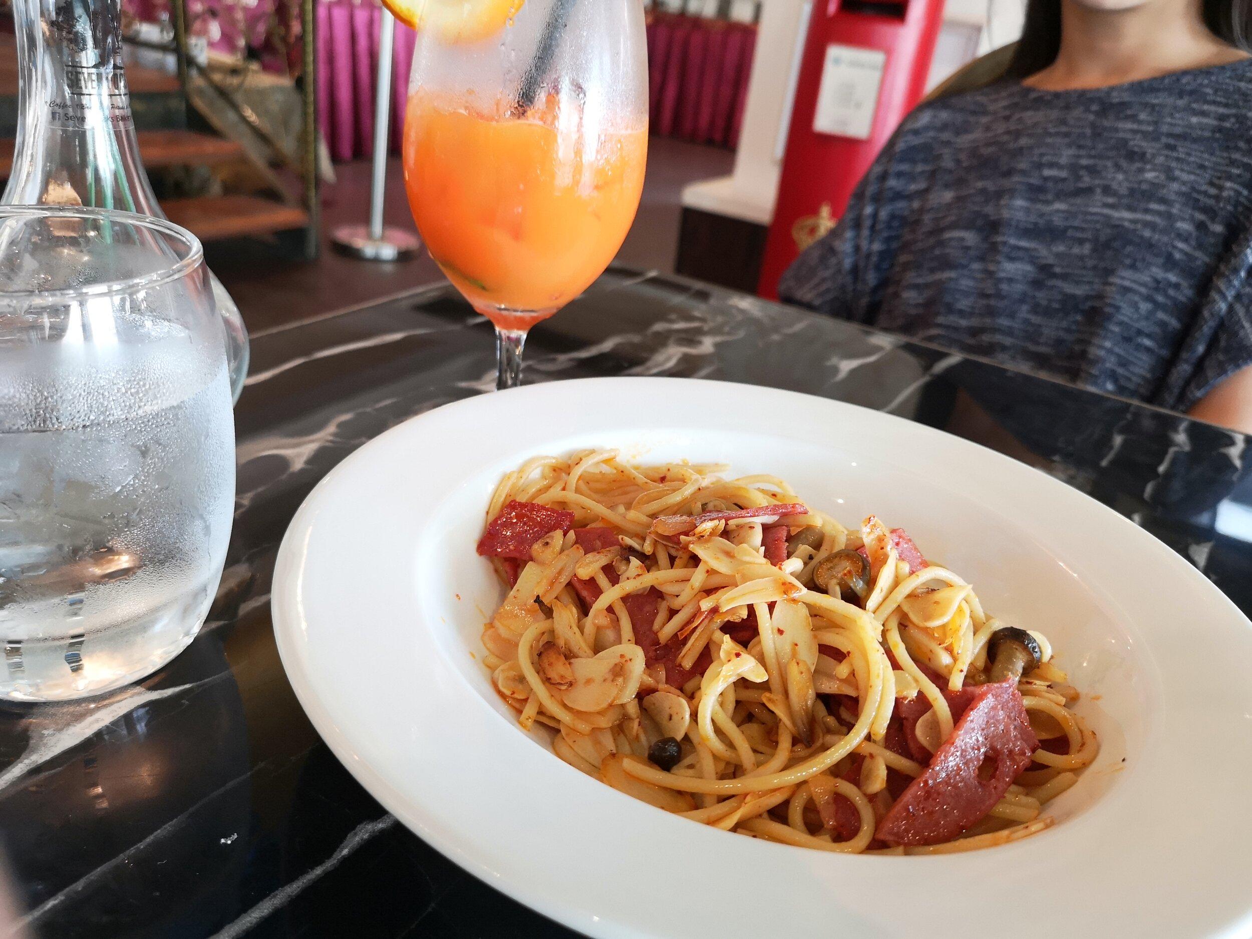Funghi & Bacon Spaghetti