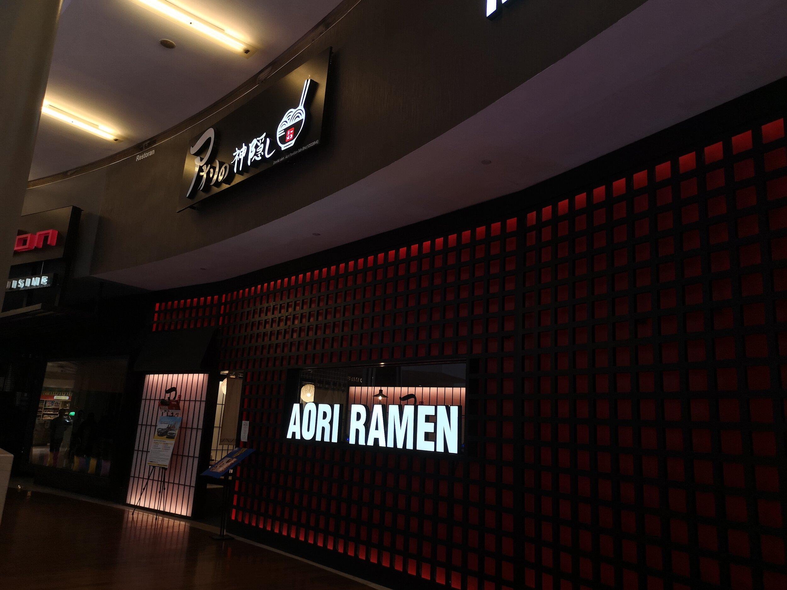 Food Blog Aori Ramen Restaurant Pavilion Kuala Lumpur Bibz Eats