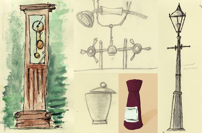 Prop design sketches