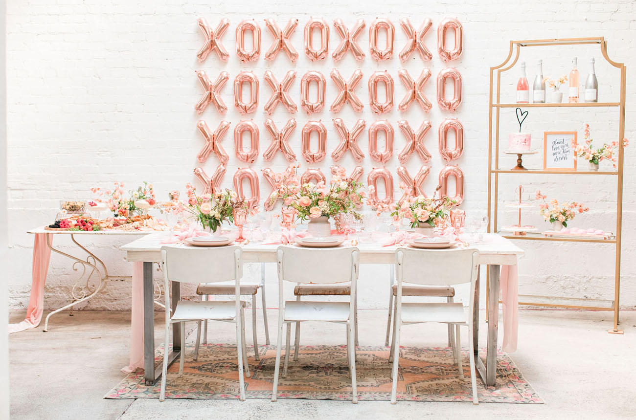 Galentine's is for the Girls: How to Host a Rose Gold + Blush-Hued Party! - Featured on Green Wedding Shoes + Beijos Events Blog