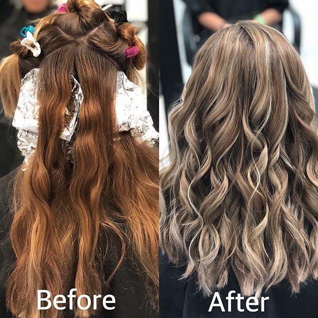 Before and after done by Morgan! #beforeandafter #ash #transformation #bumbleandbumble