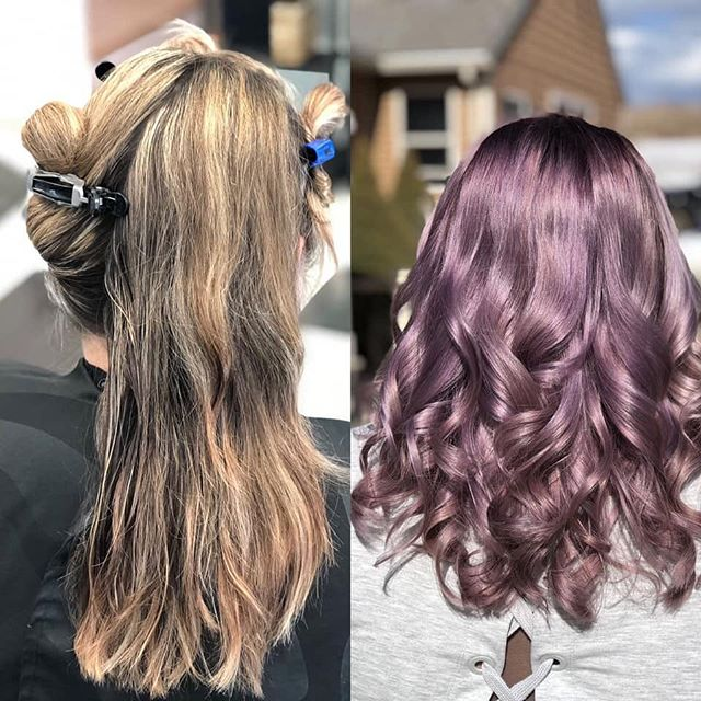 Dark purple shadow root and lavender done by Morgan!
