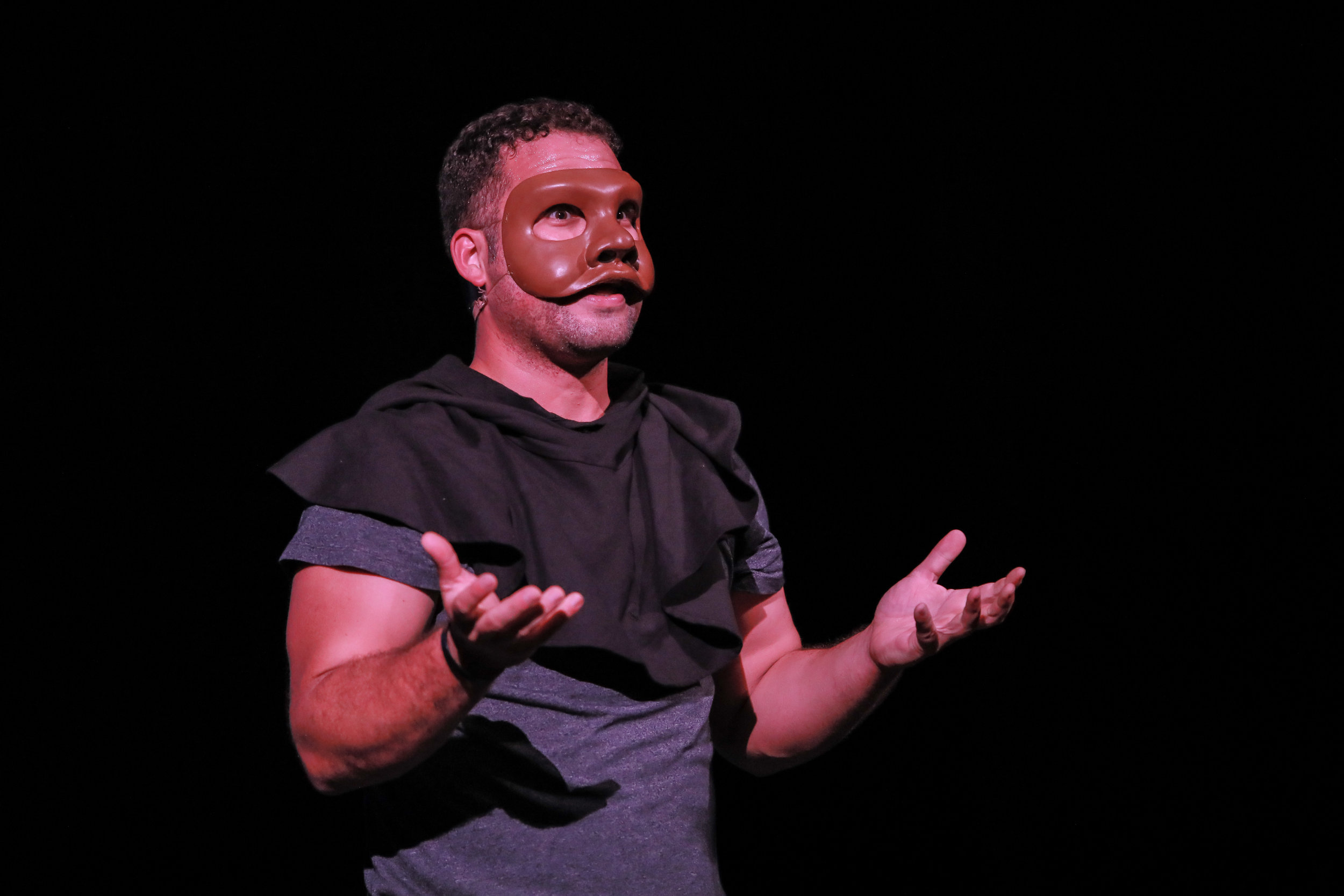 CARLOSALEXSIS CRUZ - Carlos is a physical theatre actor/creator with an immense desire of using theatre to provoke questioning within those who witness. Originally from Puerto Rico, he is very proud of his heritage: a mix of cultures in itself a bit aggravated by the fact that we are a US colony. Since finding his way to theatre arts, he has a thirst of finding new ways of telling stories. That guided me towards the path of getting an MFA degree in Physical Theatre, with a main focus on the convergence of circus and theatre, and a specialty in mask theatre performance.