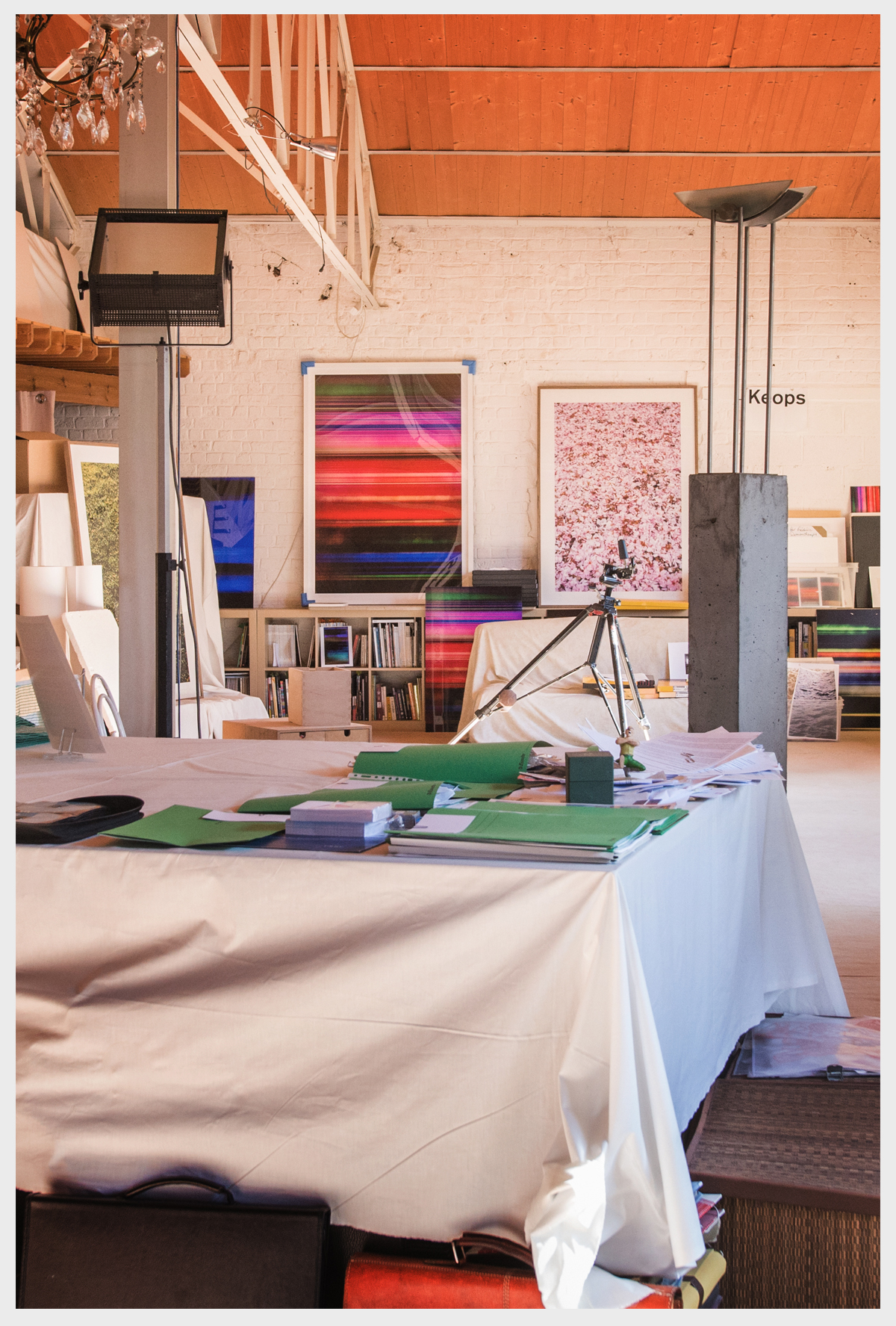 Frederic Robert Georges ' studio, September 2016, Genval (Brussels)