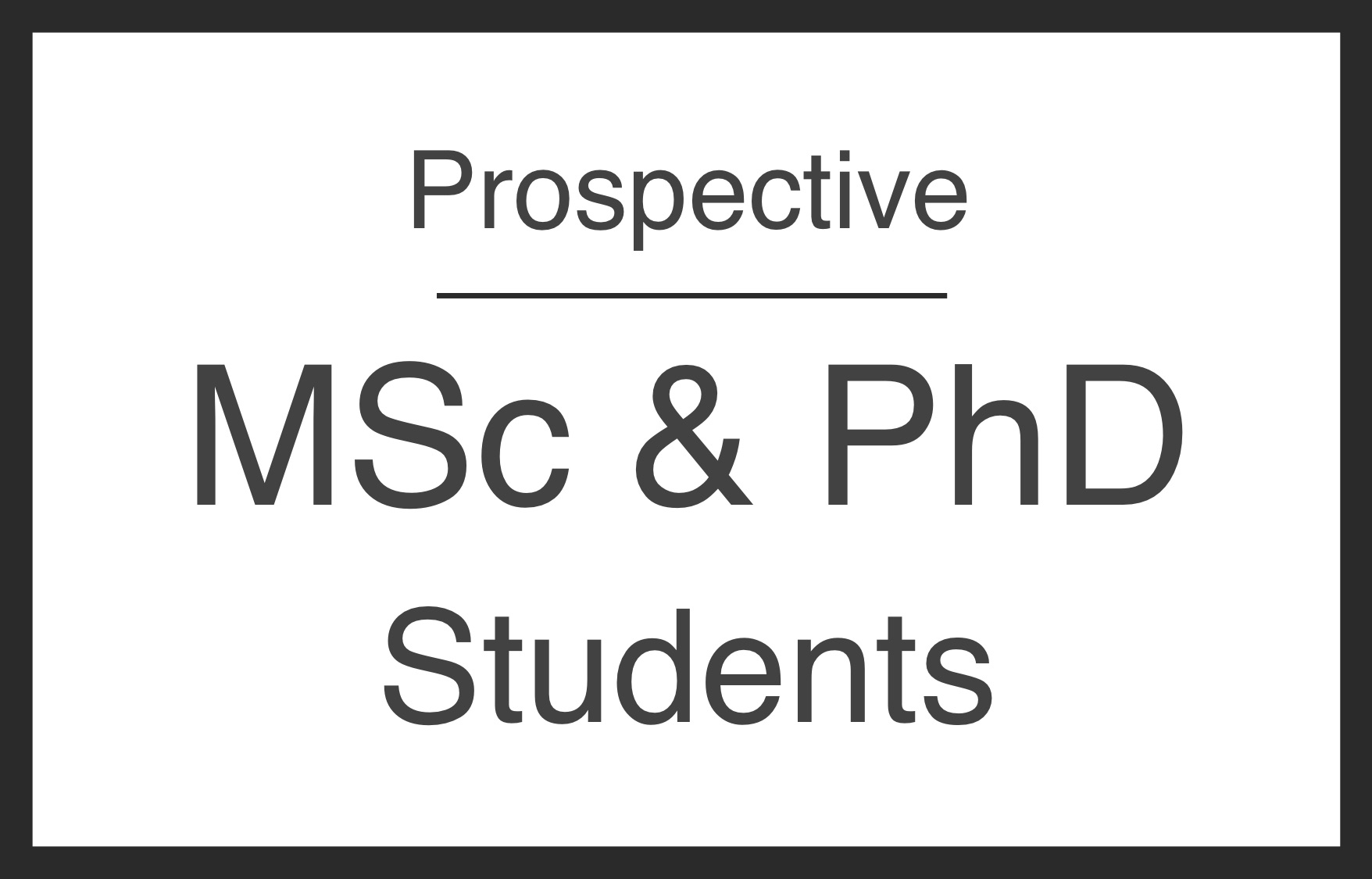 Prospective Grad Students