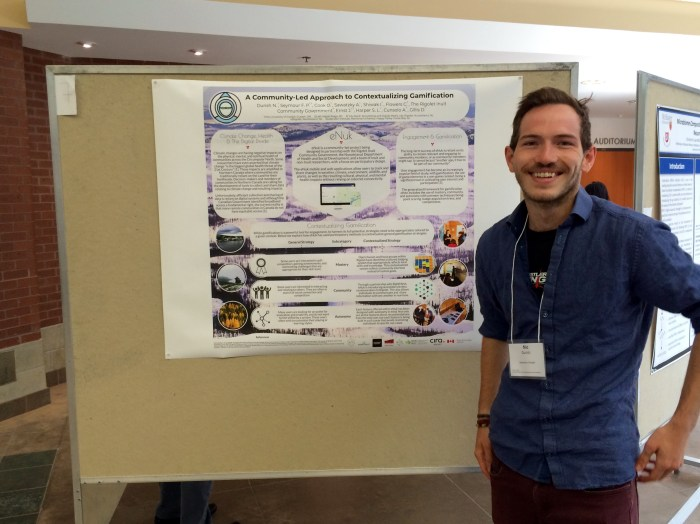 Nic Durish presents his poster