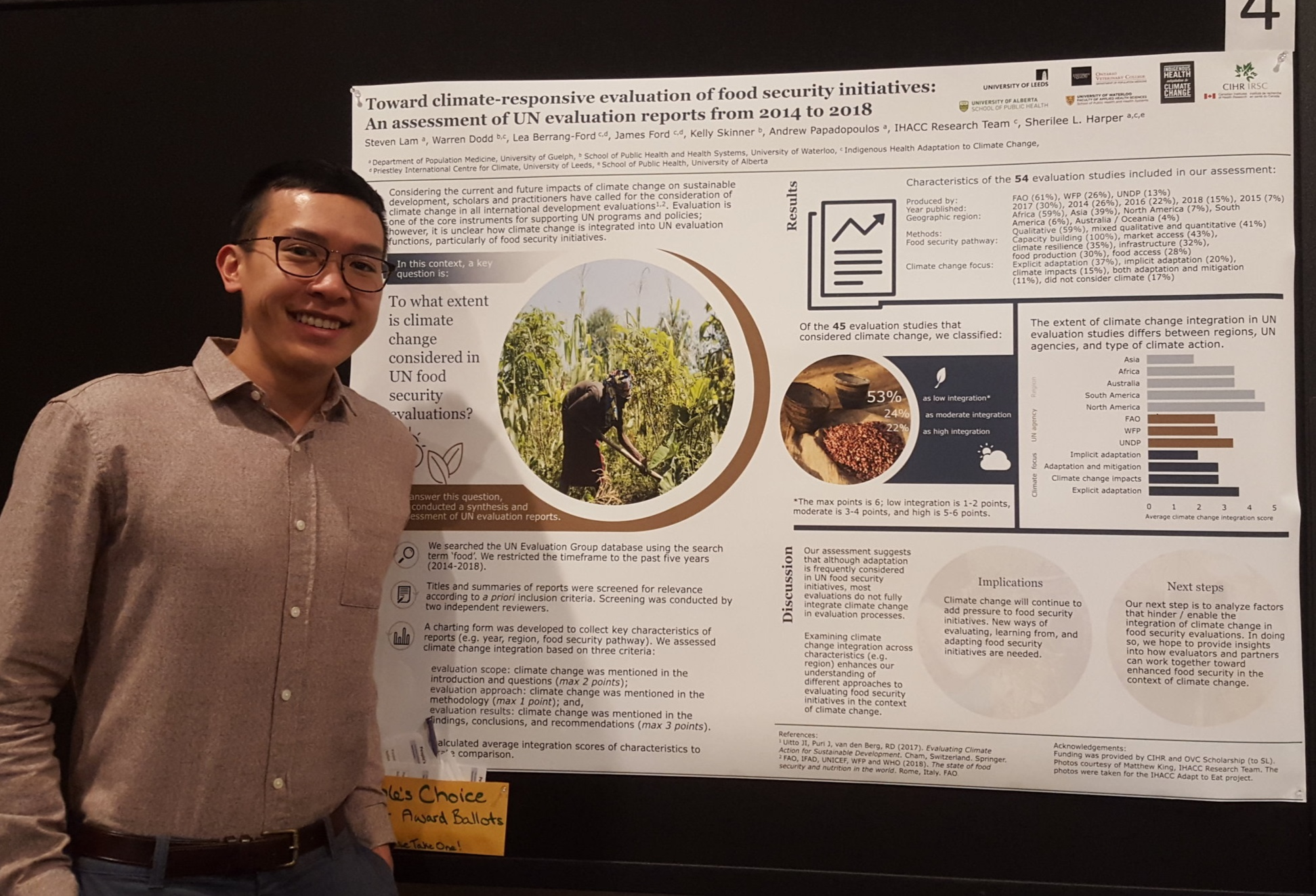 Award Winning Poster - Canadian Evaluation Society 2019