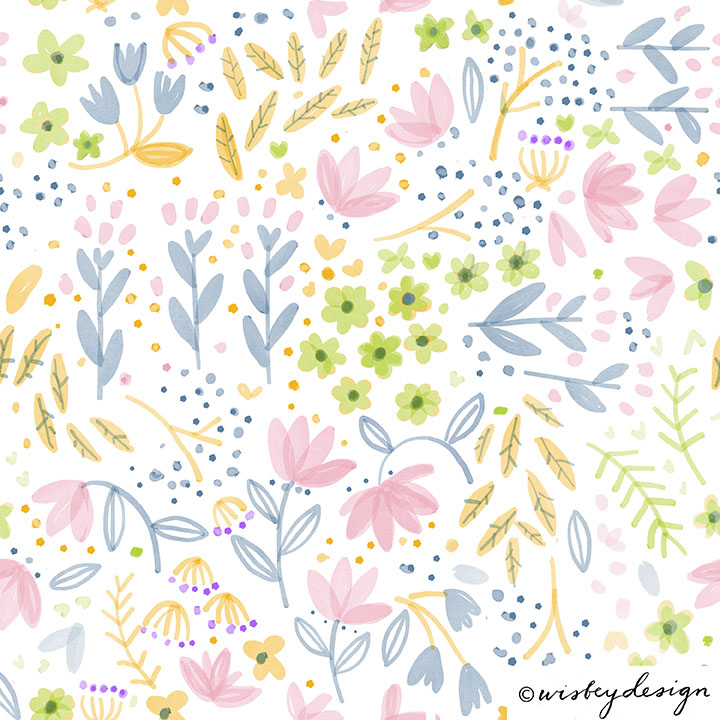 Spring Repeating Pattern Design Set