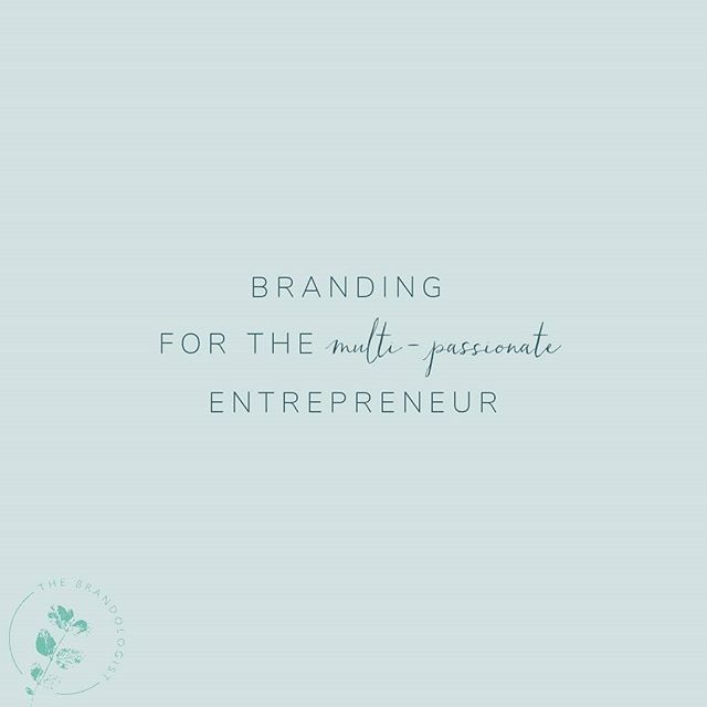 Do you ever wonder how to pull all of your passions together into one brand, or whether that's even the right thing to do at all?🤷🤔 .  If YES, I'm putting together a blog post especially for you! 🙌 .  I'd love to make this as helpful as possible, so if you're multi-passionate in business, what branding questions would you love to have answered? Or have you already had advice that is working well for you? 💜 .