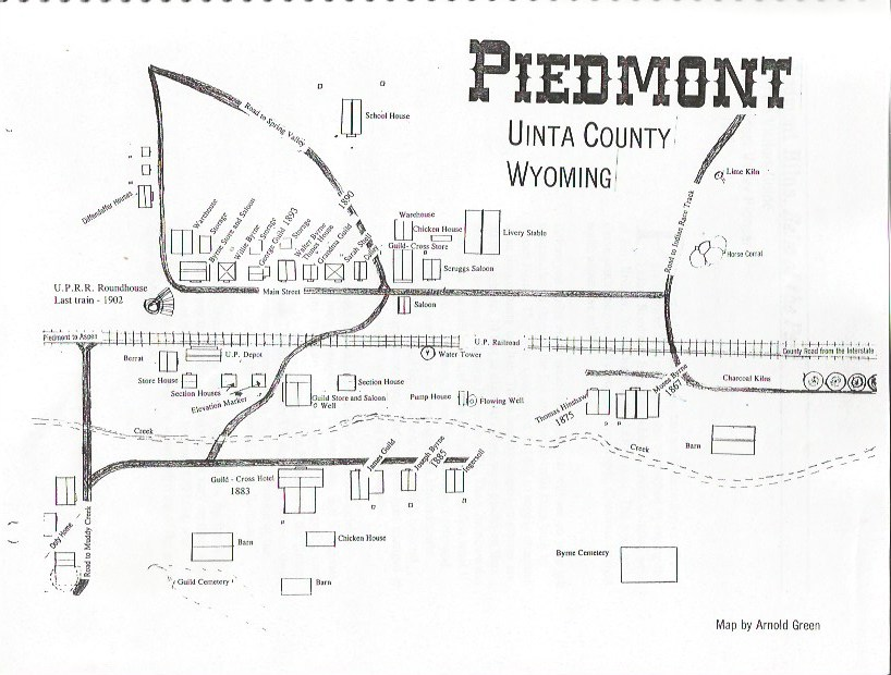 Map of Piedmont, Wyoming