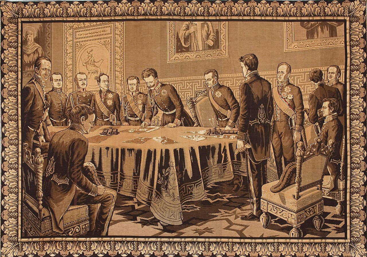 Signing of the Statuto Albertino in 1848