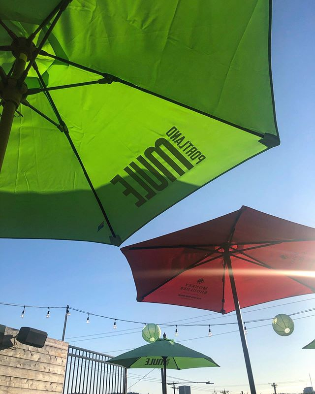 It is *perfect* rooftop patio weather right now Portland and I am HERE for it. - - - #pdxbars #pdxdrinks #summervibes #pdxsummer #centurybarpdx