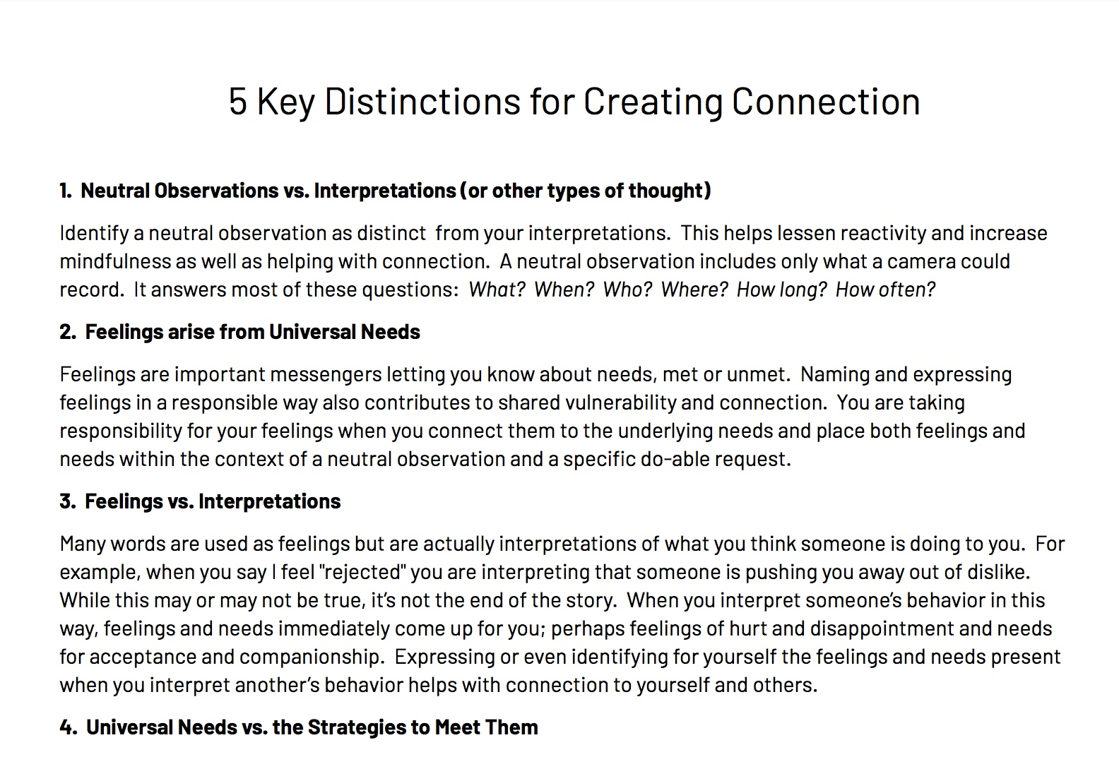 - 5 Key Distinctions for Creating Connection