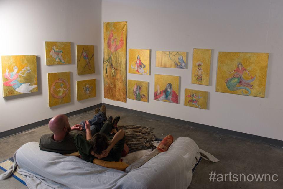 My last artist residency at Golden Belt Studios. Photo Credit: Beth Mann for ArtsNow