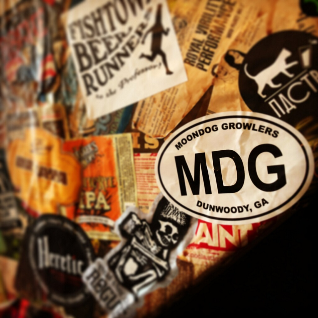 MDG sticker on a Beer Wall at The Beer Temple In Holland