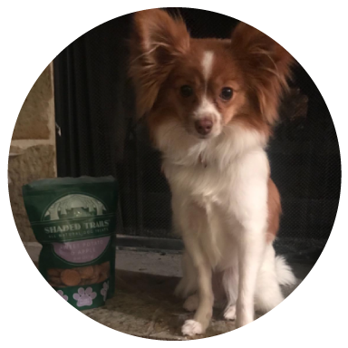 "Kristine K., Boise, ID - ""Omg!!! My dog dog can't get enough! Can't wait to try the other treats!"""