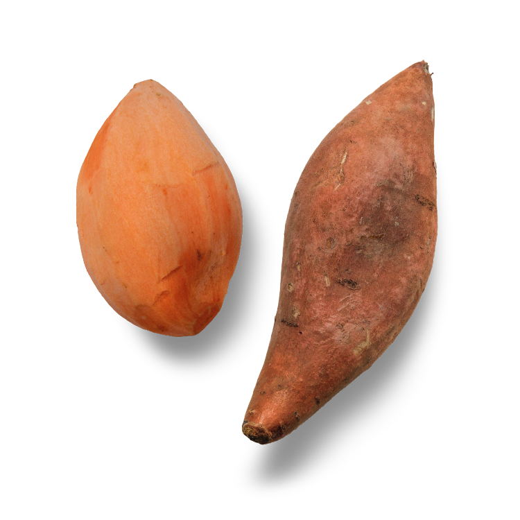 Sweet Potatoes - + High in Fiber, supporting digestive health+ Powerful Antioxidant+ Packed with Vitamins B-6 and A, supporting your dog's heart and coat